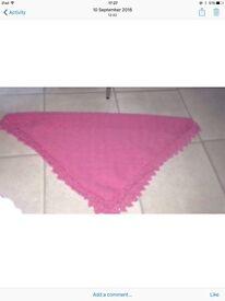 Handmade baby shawl