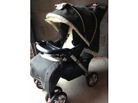 Fisher high chair, pram, maxi cosy car seats