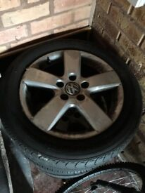 16 inch MK 5 golf alloys with tyres