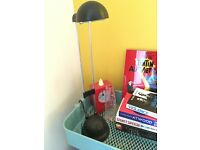 Black extendable desk lamp