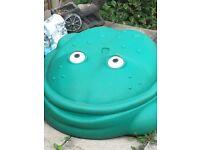 Frog sandpit