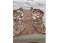 Gold/champagne colour sequin bolero