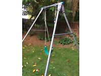 TP Single Metal Swing with Wrap Around Seat