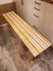 IKEA LONG WOODEN BENCH