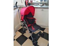 Mamas and Papas Stroller/ Buggy/ Umbrella Pushchair in Red