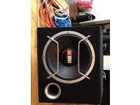 JBL subwoofer, amp and wiring kit