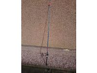 Fishing Rod with reel and hooks