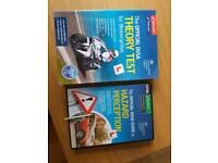 Motorbike Theory test book & hazard perception dvd