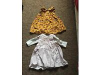 2 x Baby Girl Dresses 3-6 months