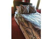Luxury King Size Bed + Leather Headboard
