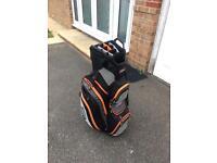 Titleist Black/ Orange/ Grey Cart Bag