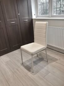 Faux Leather White Dining Chairs £50 per chair (8 available)