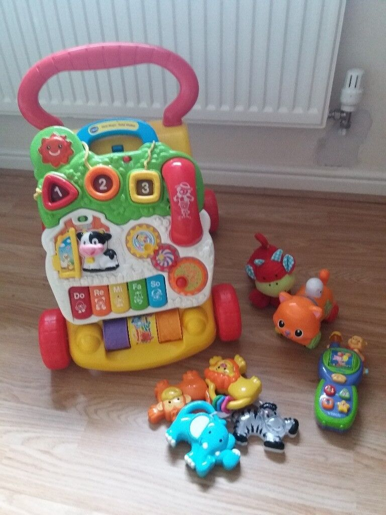 Vtech baby walker and toys