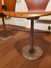 Two beautiful Arne Jacobsen ant stool solid base