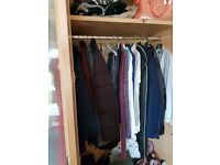 Wardrobes, drawers and bedside cabinet