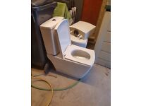 2 Close coupled toilets for sale £180 new but will sell for £90 each.