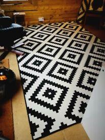 Ikea Lappljung ruta rug, 200 x 300cm.