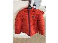M and S boys winter puffa style orange coat