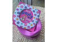 Girls pink Pourty potty and toilet training book