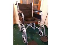 Folding wheelchair for sale, used once £80 o.b.o