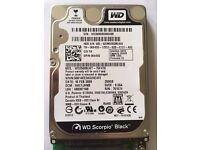 WD 250GB Scorpio Back 2.5 SATA