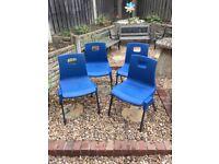 Metalliform preschool chairs, size 3-4, in blue x 4