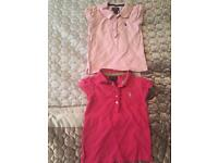 Girls genuine Ralph Lauren tshirts age 4