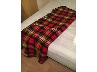 Scottish wool blanket