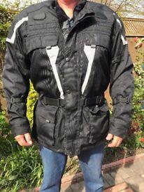 MAN'S JTS TONY WATERPROOF MOTORYCLE JACKET TALL FIT (5XL – UK 26) - VGC