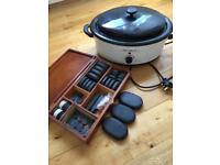 Massage master 60 piece hot stone massage set and 6.5 qt heater