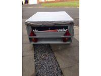 Erde 122 trailer with extension / spare wheel / jockey wheel