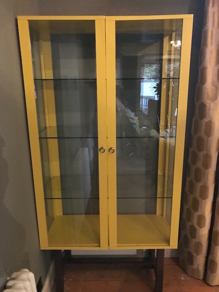 Ikea stockholm glass display cabinet