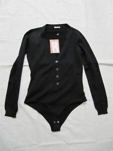 Women Miu Miu/Prada Body Suit Blouse Top Black s. 38 NEW !
