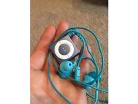 Waterproof iPod shuffle and headphones from waterfi