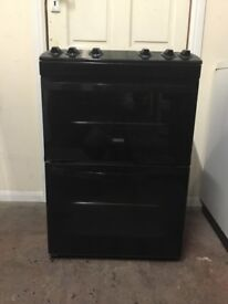Zanussi gas cooker 60cm black FSD double oven 3 months warranty free local delivery!!!!!!