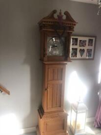 Keen pine clock and cd shelf's etc