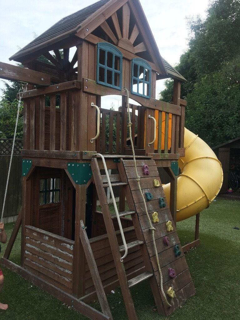 Outdoor Climbing Frame Playcentre Swing Set Twist Tube Slide