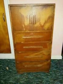 Drawer unit with cupboard