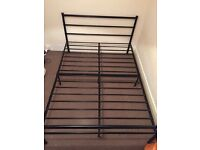 Metallic double bed frame