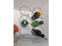 Chrome wire wine rack (6 bottle)