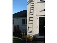 Double Extending Aluminium Ladders (24+ ft extended)