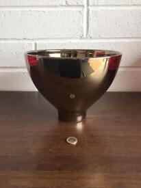 Modern large bronze/gold ceramic bowl