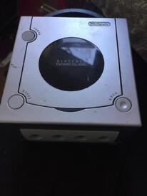 GameCube Silver Console Fully Working No Wires or Controller
