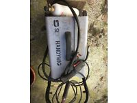 Handimig mig welder on trolley working but been in storage for a while. Working order