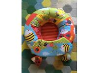 Baby support seat inflatable baby seat