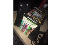 Xbox 360 Console, 9 Games and Steering Wheel and Pedals