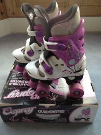Osprey Girls Quad Skates / Roller Boots - Adjustable Size 13-1-2-3