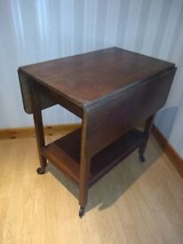 Dropleaf Trolley / Table - Dining / Kitchen Solid Wood Vintage Bench