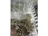 CRYSTAL/ MERCURY VASES, CANDLE HOLDERS, AND DECANTERS FOR WEDDING TABLE CENTERPIECES/ DECORATIONS