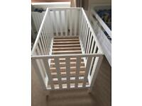 Mothercare Aspley Cot White with Matress